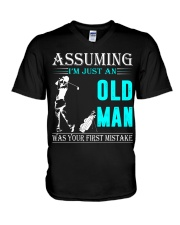 golf old man V-Neck T-Shirt thumbnail