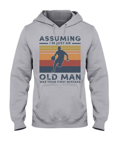 assuming old man with basketball