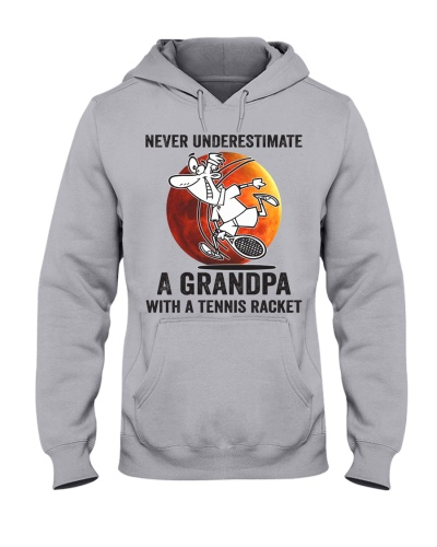 never underestimate a grandpa with tennis