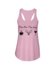 Plan for the day tennis Ladies Flowy Tank thumbnail