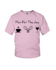 Plan for the day tennis Youth T-Shirt thumbnail