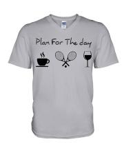 Plan for the day tennis V-Neck T-Shirt thumbnail