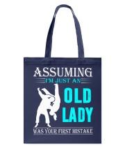 judo old lady Tote Bag thumbnail