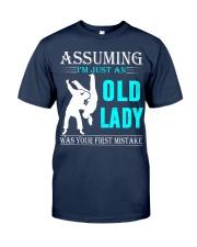 judo old lady Classic T-Shirt thumbnail