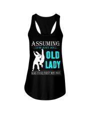 judo old lady Ladies Flowy Tank thumbnail