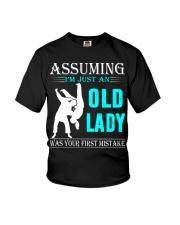 judo old lady Youth T-Shirt thumbnail