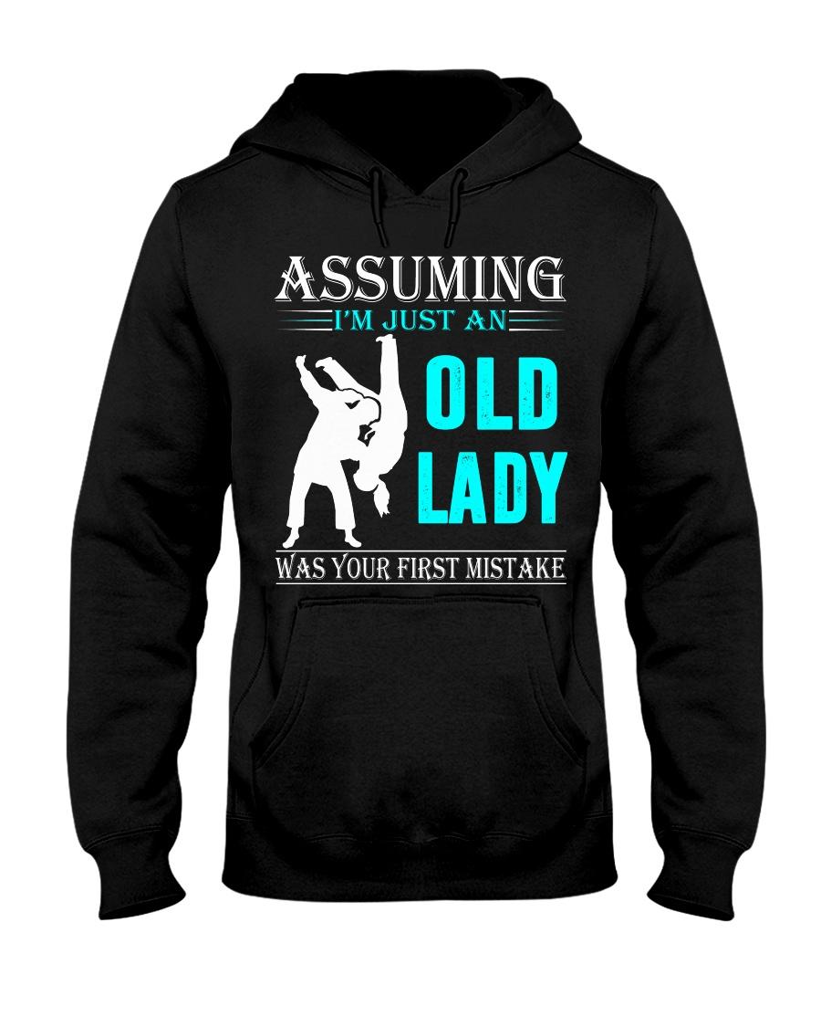 judo old lady Hooded Sweatshirt