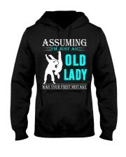 judo old lady Hooded Sweatshirt front