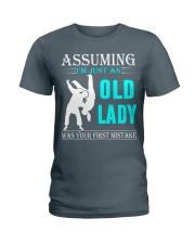 judo old lady Ladies T-Shirt thumbnail