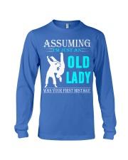 judo old lady Long Sleeve Tee thumbnail