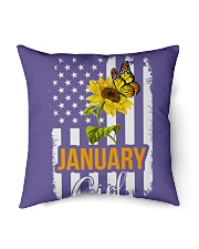 """January girl Indoor Pillow - 16"""" x 16"""" thumbnail"""
