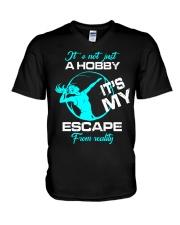 Volleyball hobby lady V-Neck T-Shirt thumbnail