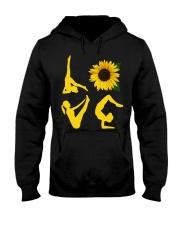 yoga love Hooded Sweatshirt front