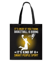 basketball smart sport lady Tote Bag thumbnail