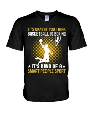 basketball smart sport lady V-Neck T-Shirt thumbnail