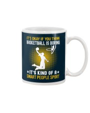 basketball smart sport lady Mug thumbnail