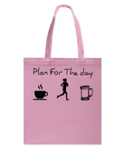 Plan for the day jogging beer Tote Bag thumbnail