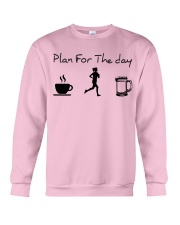 Plan for the day jogging beer Crewneck Sweatshirt thumbnail