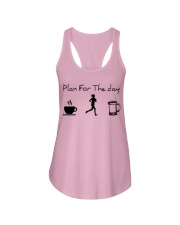Plan for the day jogging beer Ladies Flowy Tank thumbnail