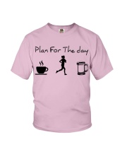 Plan for the day jogging beer Youth T-Shirt thumbnail