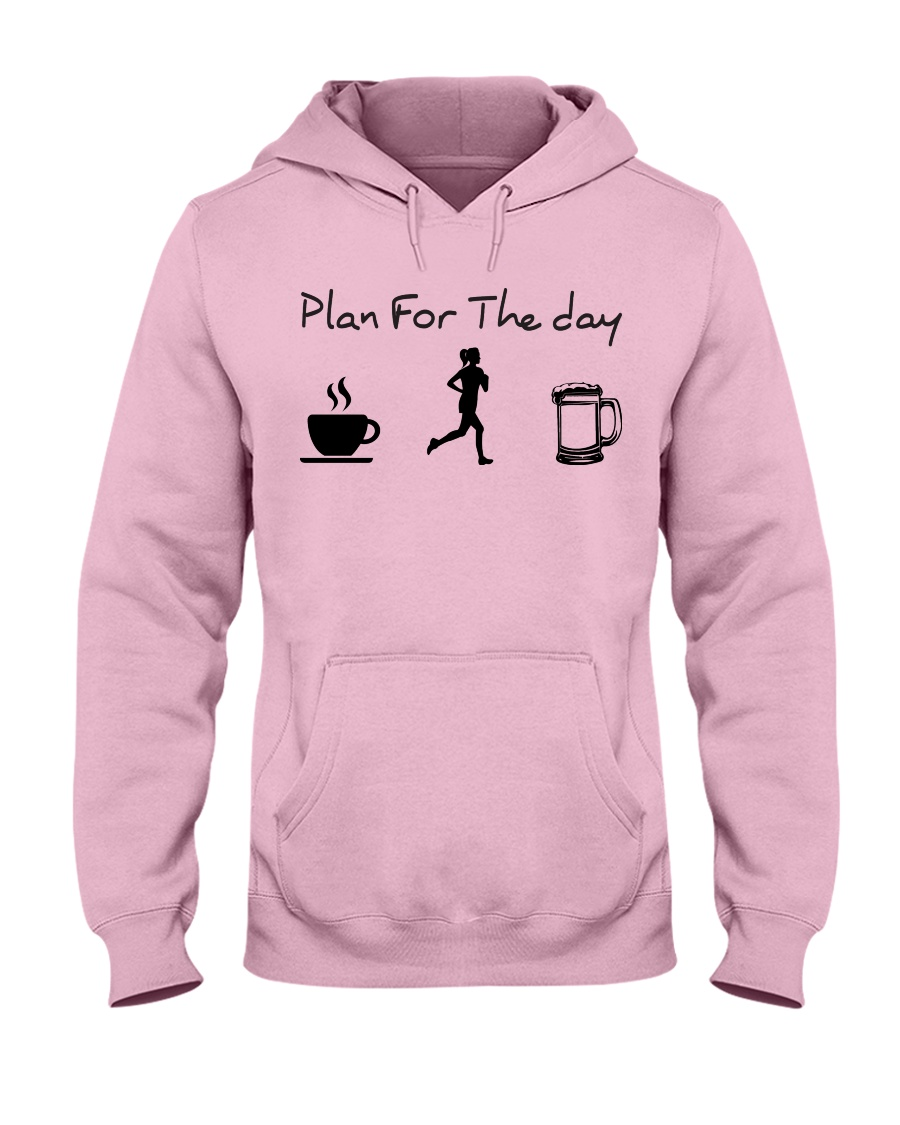 Plan for the day jogging beer Hooded Sweatshirt