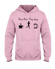 Plan for the day jogging beer Hooded Sweatshirt front