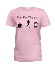 Plan for the day jogging beer Ladies T-Shirt thumbnail
