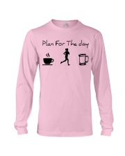 Plan for the day jogging beer Long Sleeve Tee thumbnail