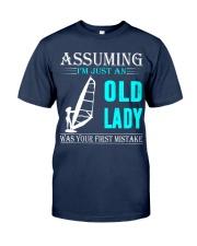 windsurfing old lady Classic T-Shirt thumbnail