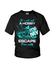 camping hobby lady Youth T-Shirt thumbnail
