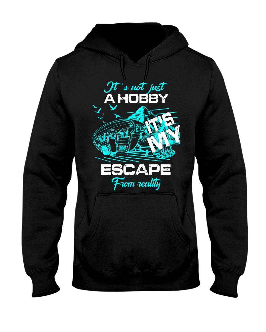 camping hobby lady Hooded Sweatshirt