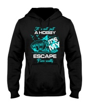 camping hobby lady Hooded Sweatshirt front