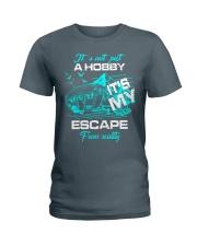 camping hobby lady Ladies T-Shirt thumbnail