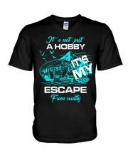 camping hobby lady V-Neck T-Shirt thumbnail