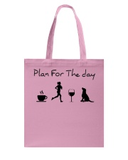 Plan for the day running and a lab Tote Bag thumbnail