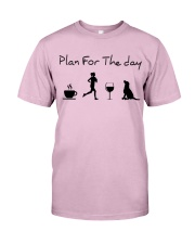 Plan for the day running and a lab Classic T-Shirt thumbnail