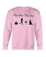 Plan for the day running and a lab Crewneck Sweatshirt thumbnail