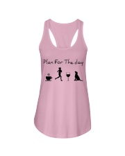 Plan for the day running and a lab Ladies Flowy Tank thumbnail