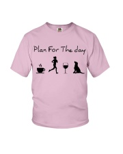 Plan for the day running and a lab Youth T-Shirt thumbnail