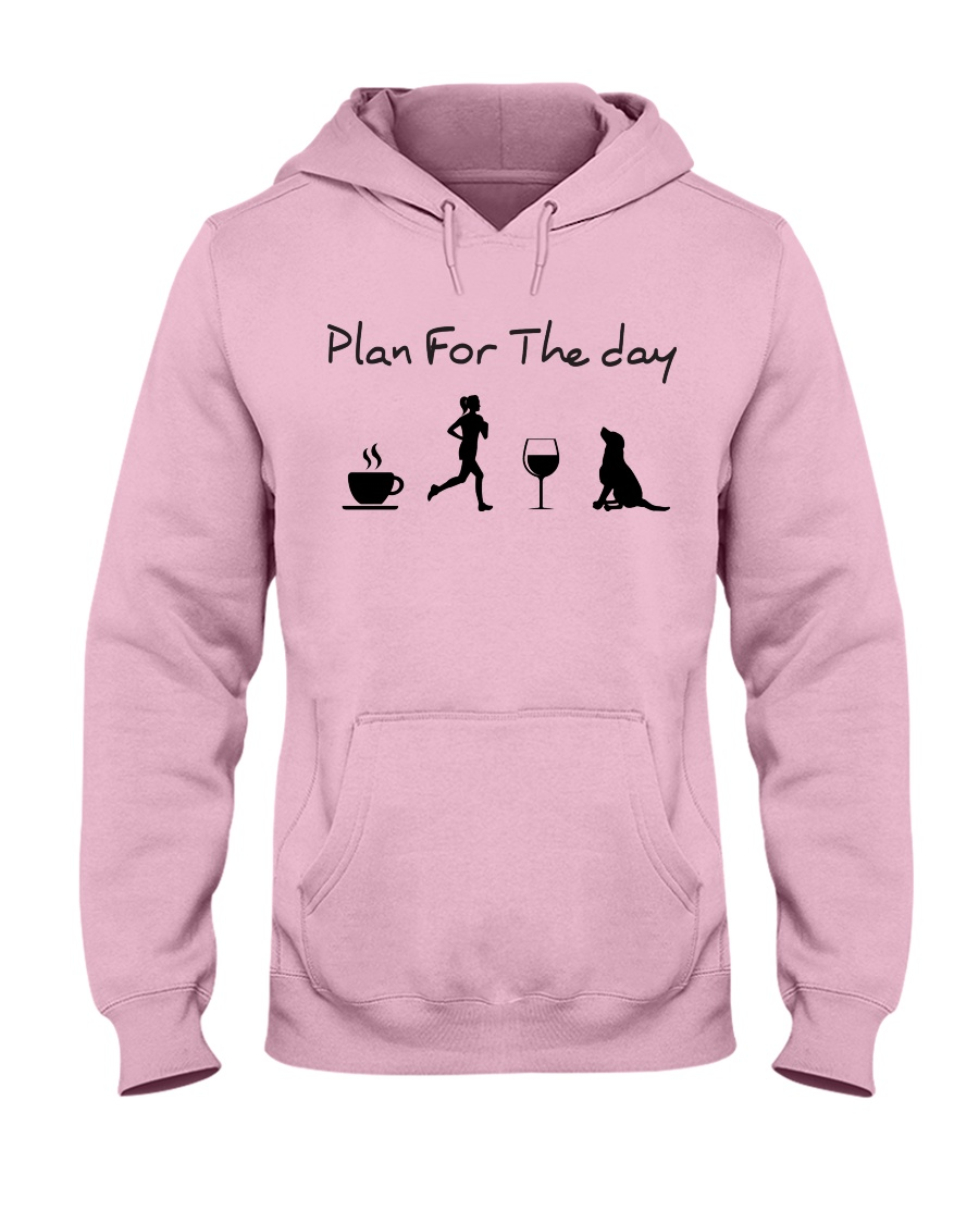 Plan for the day running and a lab Hooded Sweatshirt