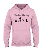 Plan for the day running and a lab Hooded Sweatshirt front