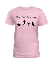 Plan for the day running and a lab Ladies T-Shirt thumbnail