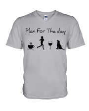 Plan for the day running and a lab V-Neck T-Shirt thumbnail