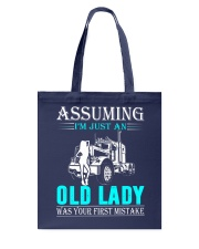 Monster truck old lady Tote Bag thumbnail