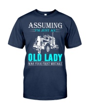 Monster truck old lady Classic T-Shirt thumbnail