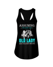 Monster truck old lady Ladies Flowy Tank thumbnail