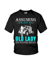 Monster truck old lady Youth T-Shirt thumbnail