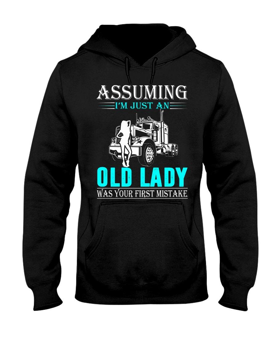 Monster truck old lady Hooded Sweatshirt