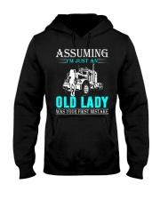Monster truck old lady Hooded Sweatshirt front