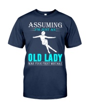 Figure skating old lady Classic T-Shirt thumbnail